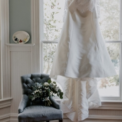 Stunning bridal gown is the perfect subject for Candle and Quill Photography