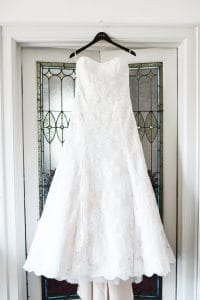 Stunning wedding gown of a Magnificent Moments bride