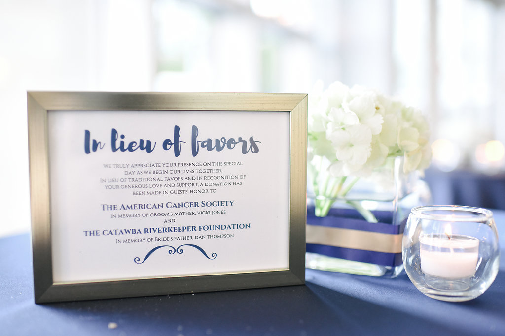 In lieu of favors - donations to the American Cancer Society and the Catawba Riverkeeper Foundation