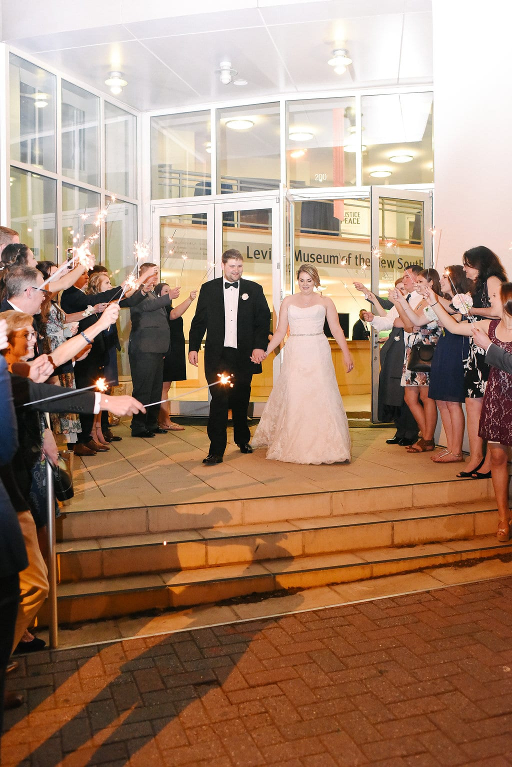 wedding exit at the Levine Museum of the New South