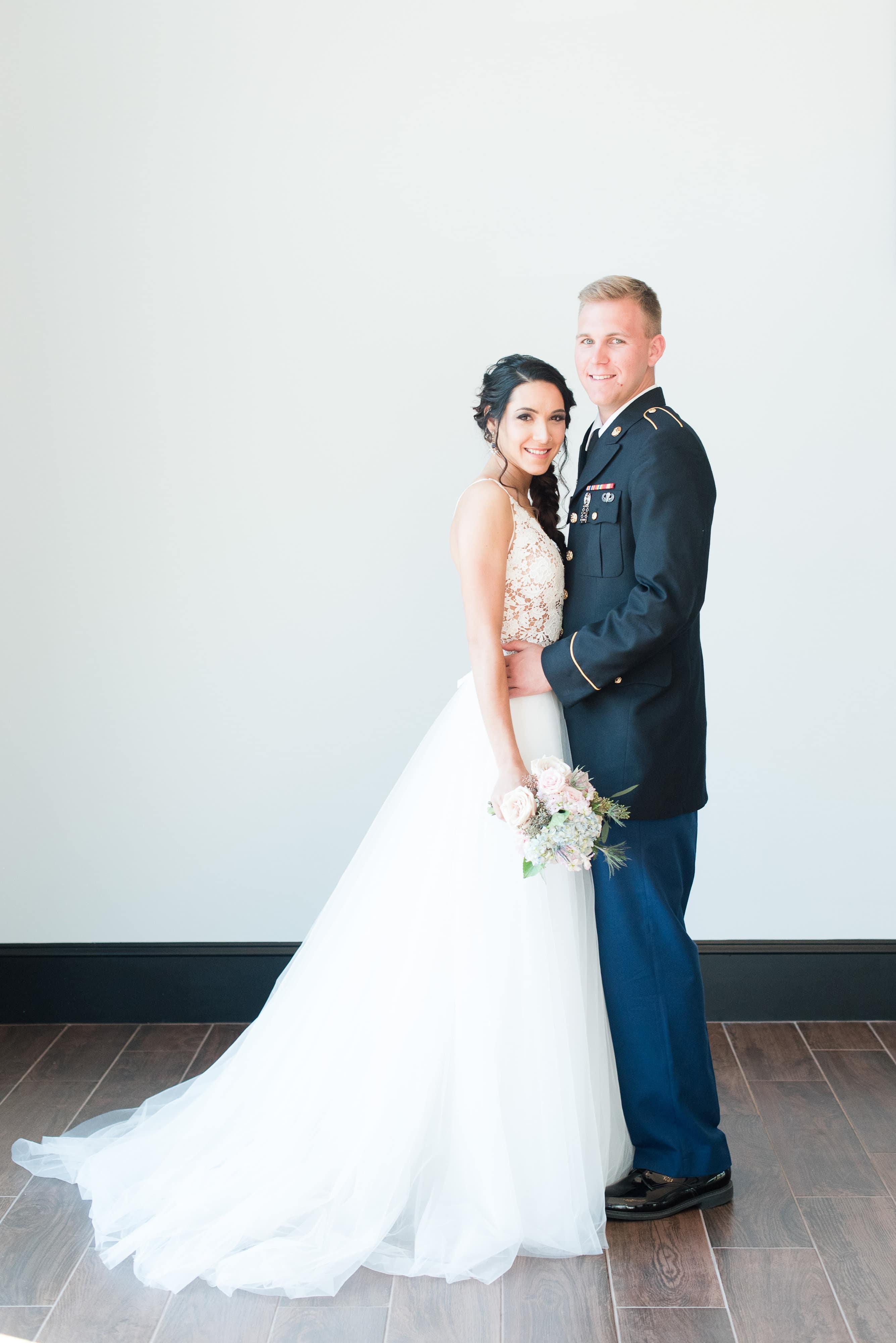 Bride with amazing make up by Jennifer Carver
