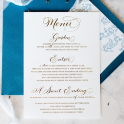 Amazing blue invitation suite by Ocean and Coral Creative
