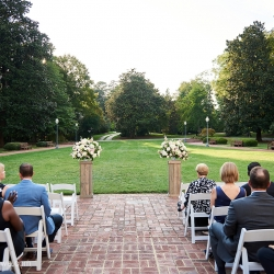 The Mint Museum Randolph was the perfect backdrop for a wedding ceremony coordinated by Magnificent Moments Weddings