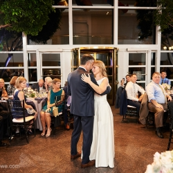 Bride and groom share a sweet first dance during their wedding captured by Critsey Rowe Photography
