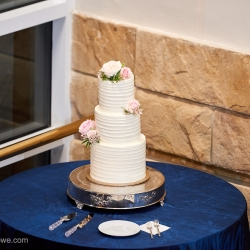 Cristey Rowe Photography captures a stunning cake created by Suarez Bakery for a wedding at The Mint Museum Randolph
