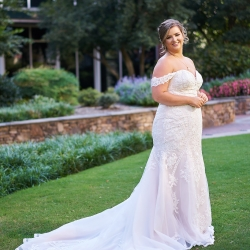 Critsey Rowe Photography captures a bride before her summer wedding at The Mint Museum Uptown in Charlotte