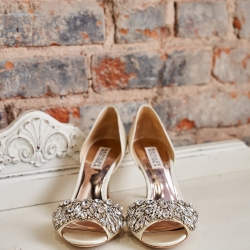 Sweet bridal shoes are the perfect accessory for a summer wedding at The Mint Museum Uptown