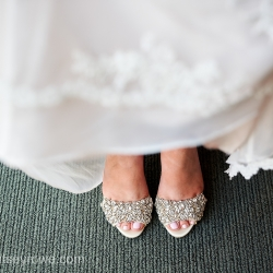 Stunning shoes were the perfect touch to a stunning bridal outfit captured by Critsey Rowe PHotography