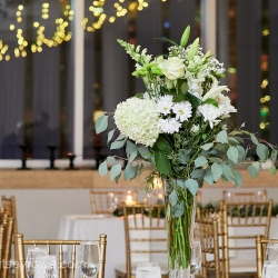 Stunning flowers from the Charlotte Farmers Market were the perfect centerpieces for a summer wedding in Uptown Charlotte