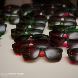Sunglasses were a fun addition to a summer wedding dance floor captured by Critsey Rowe Photography