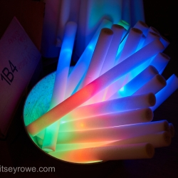 Glowstick favors were a fun addition to the dance floor for a summer wedding coordinated by Magnificent Moments Weddings