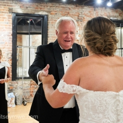 Brides father shows his emotions after a first look with his daughter captured by Critsey Rowe Photography