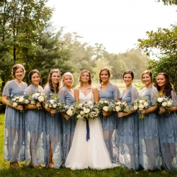 David Mendoza III Photography captures a bride and her bridesmaids before her wedding at Morning Glory Farms