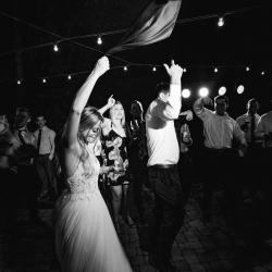 Carolina DJ Professionals created a party scene at a fall wedding at Morning Glory Farms