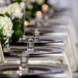 Elegant table setting at The Mint Museum Uptown captured by Discover Love Studios