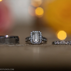 Detail shot of bridal rings captured by Discover Love Studios