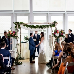 Ceremony coordinated by Magnificent Moments Weddings at Mint Museum Uptown