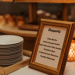 Delectables by Holly created mini desserts for a industrial fall wedding in Charlotte, North Carolina