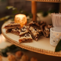 Sweet treats by Delectables by Holly were the perfect treat for guests during a fall wedding at Savona Mills in Charlotte
