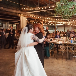 Bride shares a touching dance with her mother during her Charlotte wedding at Savona Mills