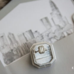 Stunning bridal jewelry is captured by Erin Kranz Photography for a fall wedding at Founders Hall