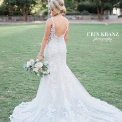 Erin Kranz Photography captures the stunning details of a bridal gown for an Uptown Charlotte wedding