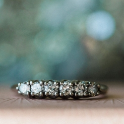Gandee Photography captures a detail shot of bridal rings during a fall wedding at Catawba Brewery