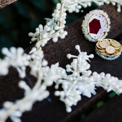 Gandee Photography captures detail shots of stunning bridal jewelry during a fun Charlotte Wedding