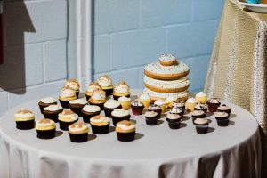 Donuts and cupcakes from Suarez bakery were the perfect treats for a wedding coordinated by Magnificent Moments Weddings at Catawba Brewery