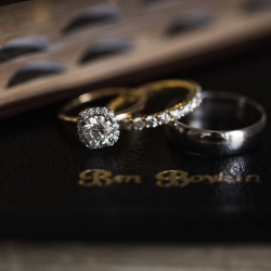 Bridal jewelry captured by Grace Hill Photography for a winter wedding at The Diary Barn