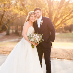 Grace Hill Photography captures a bride and groom during their winter wedding on the grounds of The Dairy Barn