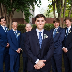 Groom is all smiles for Grace Hill Photography after his wedding ceremony in Uptown Charlotte