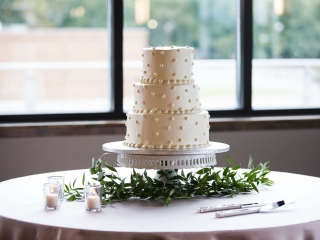 Simple three tiered cake from Publix was the perfect treat for a summer wedding coordinated by Magnificent Moments Weddings