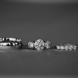 Grace Hill Photography captures the details of bridal jewelry during a summer wedding in Uptown Charlotte
