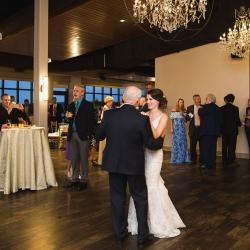 Bride shares a dance with her father during her cocktail reception at Terrace at Cedar Hill