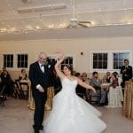Grain and Compass captured father daughter dance at a Diary Barn wedding