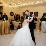 Bride and groom share a first dance captured by Grain and Compass