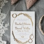 Invitation to a New Years Eve wedding at The Diary Barn in Fort Mill South Carolina