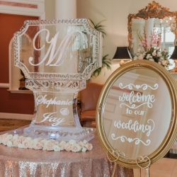Artisan Ice Sculptures created a custom ice piece for a spring wedding at Providence Country Club