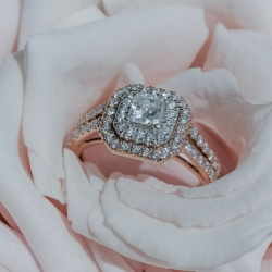 Green Valley photography captures stunning details of bridal jewelry for a spring wedding at Providence Country Club