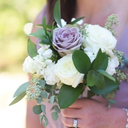 Heatherly Event Design created stunning bouquets for bridesmaid during and Uptown Charlotte wedding