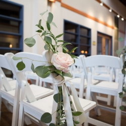 Rose accents are the amazing details created by Heatherly Event and Design