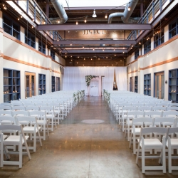 Stunning ceremony space as the perfect backdrop for a fall wedding captured by Indigo Photography