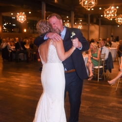 Bride dances with her father to music provided by Parks Brother Band