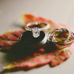 Indigo Photography captures the details of stunning bridal jewelry during a fall wedding in Uptown Charlotte