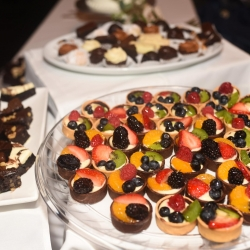 Delicious desserts created by Best Impressions were the perfect treat for a fall wedding in Uptown Charlotte