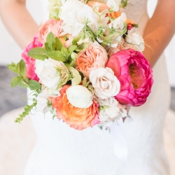 Jamie Lucido Photography captures the brides bouquet created by Proper Flower