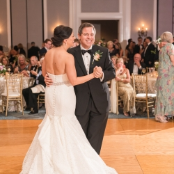 Bride and groom are all smiles for Jamie Lucido Photography as they dance to Big Blast and Party Masters music for their first dance