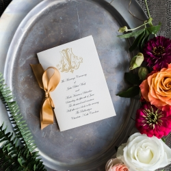 Jamie Lucido Photography captures the invitation suite for a spring wedding at The Ballantyne Hotel