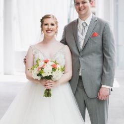 Jenny Tenney Photography captures a bride and groom during their Uptown Charlotte Wedding